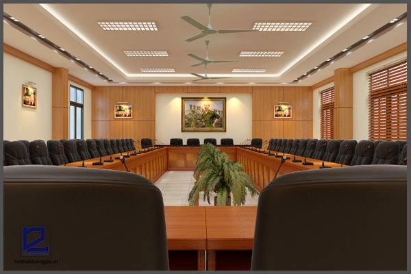 Mẫu thiết kế phòng họpPH-DG09 khi được thiết kế cho không gian lớn (góc chụp 2)