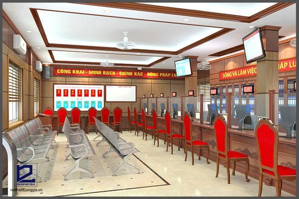 Thiết kế phòng một cửa quận Thanh Xuân VP-DG09 (góc chụp 2)
