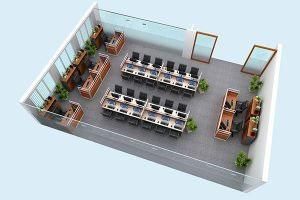 Mẫu thiết kế nội thất văn phòng VP-DG15