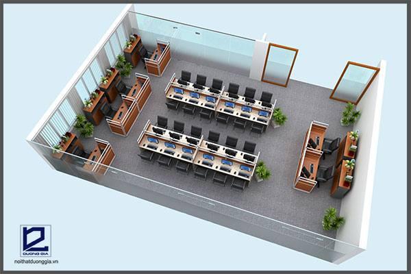 Mẫu thiết kế nội thất văn phòng VP-DG15 (góc chụp 1)