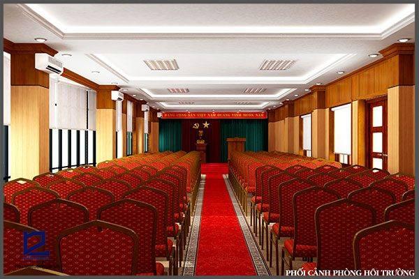 Thiết kế hội trường phòng họp cụcKHĐT/BQP HT-DG16