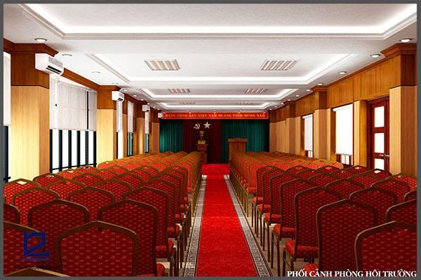 Thiết kế hội trường phòng họp cụcKHĐT/BQP HT-DG16 góc 1