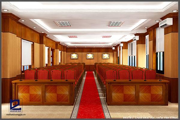 Thiết kế hội trường phòng họp cụcKHĐT/BQP HT-DG16 góc 2