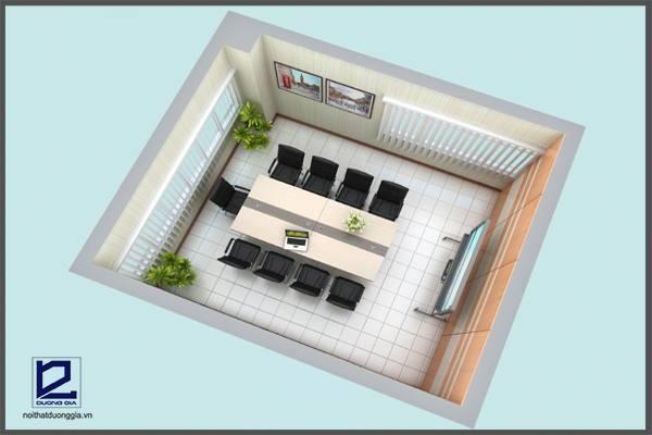 Mẫu thiết kế phòng họp PH-DG06 nhìn tổng thể