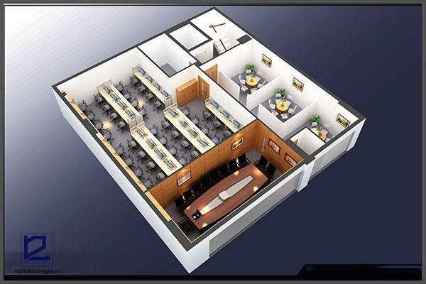 Mẫu thiết kế nội thất văn phòngVP-DG06 (góc chụp 1)