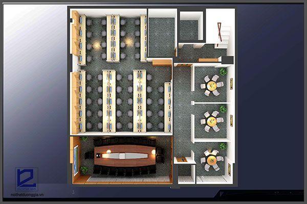 Mẫu thiết kế nội thất văn phòngVP-DG06 (góc chụp 2)
