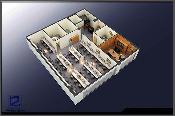 Mẫu thiết kế nội thất văn phòng VP-DG07 (góc chụp 2)