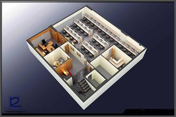 Mẫu thiết kế nội thất văn phòng VP-DG07 (góc chụp 3)