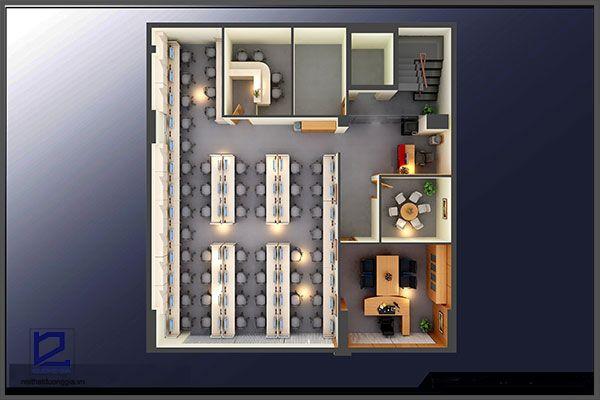 Mẫu thiết kế nội thất văn phòng VP-DG07 (góc chụp 1)