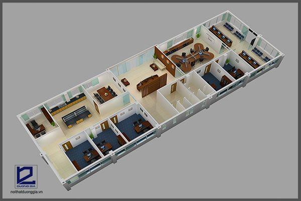Mẫu thiết kế nội thất văn phòng VP-DG12 (góc chụp 2)