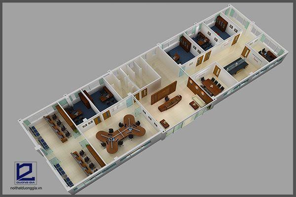 Mẫu thiết kế nội thất văn phòng VP-DG12 (góc chụp 3)