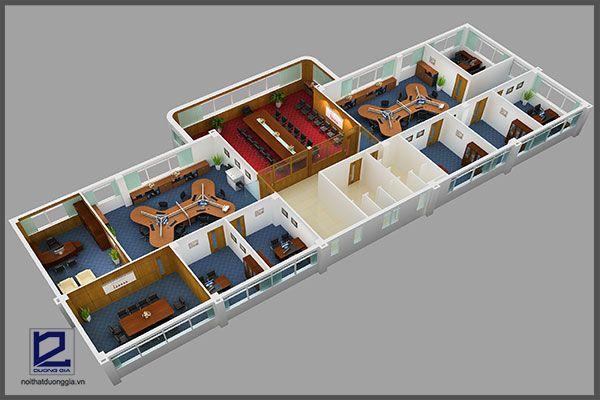 Mẫu thiết kế nội thất văn phòng VP-DG12 (góc chụp 1)
