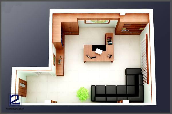 Thiết kế nội thất phòng Giám đốc công ty CKC GD-DG07 góc chụp 1