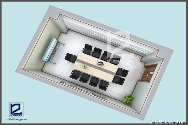 Dự án thiết kế nội thất phòng họp canon Bắc Ninh