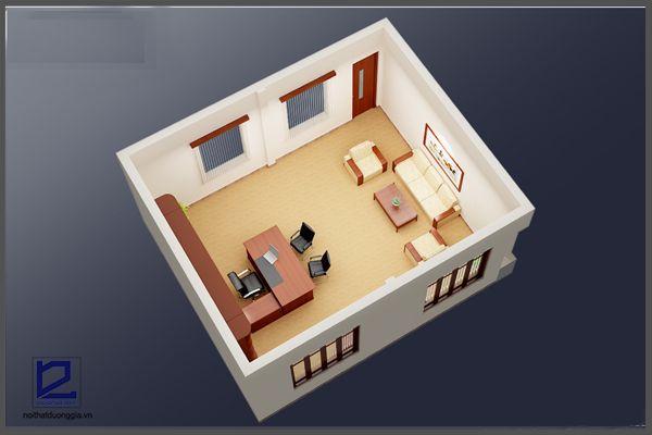 Thiết kế phòng Giám đốc công ty khoáng sản TMG GD-DG13 (góc chụp 1)