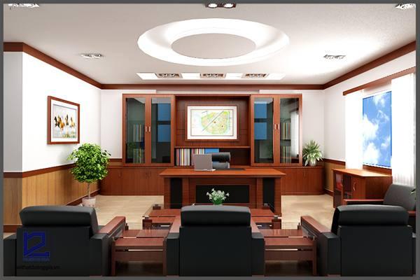 Thiết kế phòng phòng Giám đốc công đoàn quận Thanh XuânGD-DG06 (góc chụp 2)