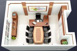 Mẫu thiết kế phòng Giám đốcGD-DG09