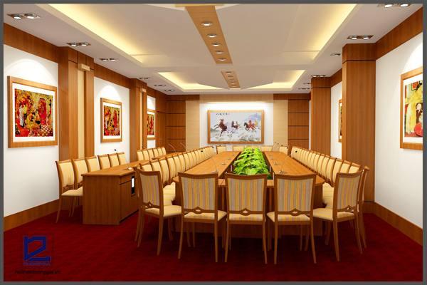 Trang trí phòng họp đẹp mắt.