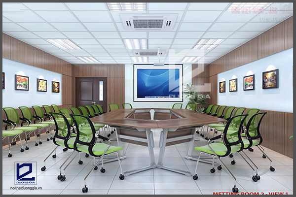 Dự án thiết kế nội thất phòng họp Canon Thăng Long