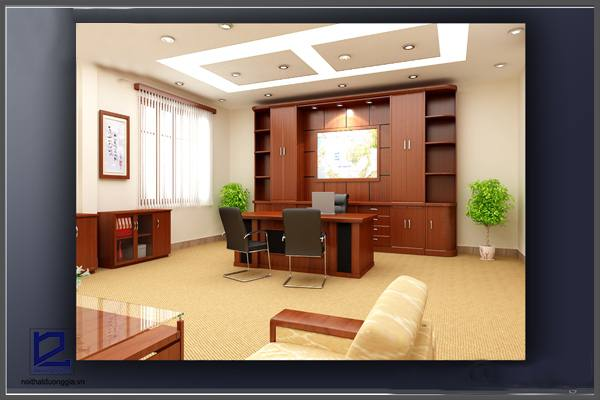 Thiết kế phòng Giám đốc công ty khoáng sản TMG GD-DG13 (góc chụp 2)