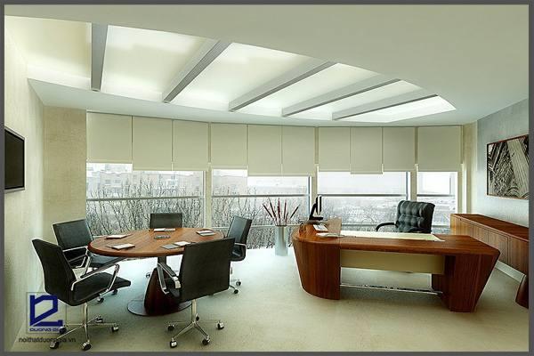 Thiết kế phòng Giám đốc theo không gian mở phải đón nhận được nguồn ánh sáng tự nhiên.