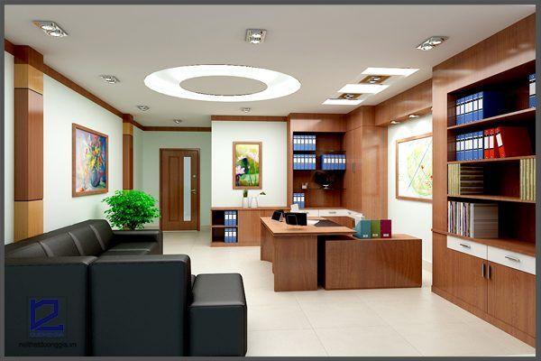 Thiết kế nội thất phòng Giám đốc công ty CKC GD-DG07