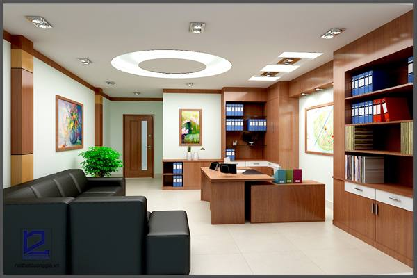 Thiết kế nội thất phòng Giám đốc công ty CKC GD-DG07  góc chụp 2
