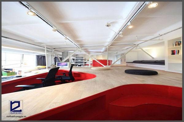 Ý tưởng thiết kế nội thất văn phòng của Red Town - Trung Quốc