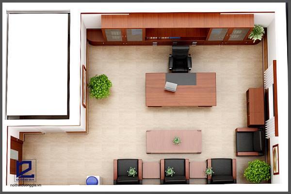 Thiết kế phòng phòng Giám đốc công đoàn quận Thanh XuânGD-DG06 (góc chụp 1)