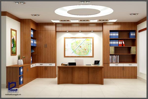 Thiết kế nội thất phòng Giám đốc công ty CKC GD-DG07  góc chụp 3