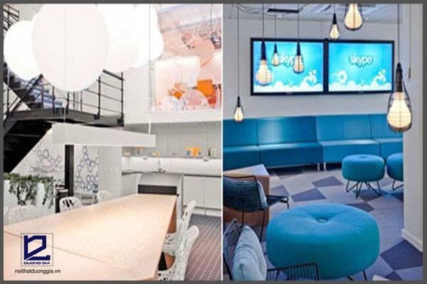 Thiết kế nội thất văn phòng Skype
