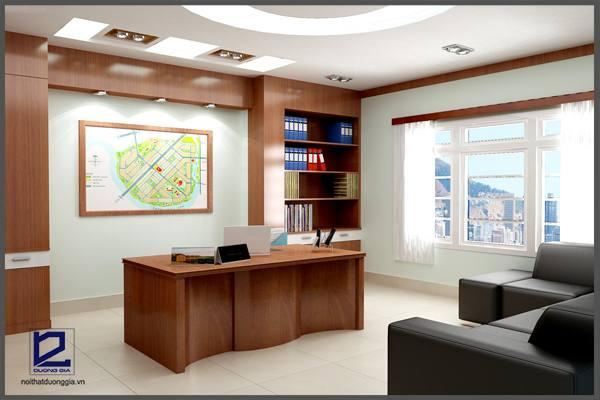 Thiết kế nội thất phòng Giám đốc công ty CKC GD-DG07  góc chụp 4