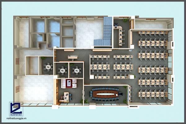 Thiết kế văn phòng tổng công ty thép Việt Nam VP-DG16 - tổng quan 1