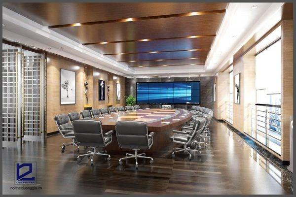 Mẫu thiết kế nội thất phòng họp đẹp, hiện đại