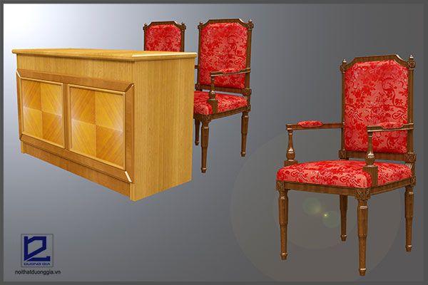 Bàn ghế trong mẫu thiết kế hội trường HT-DG14