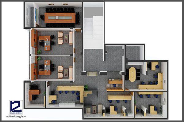 Mẫu thiết kế nội thất văn phòng VP-DG17 (góc chụp 2)