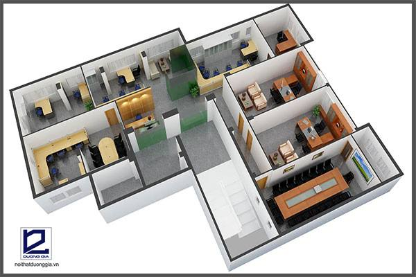 Mẫu thiết kế nội thất văn phòng VP-DG17  (góc chụp 3)