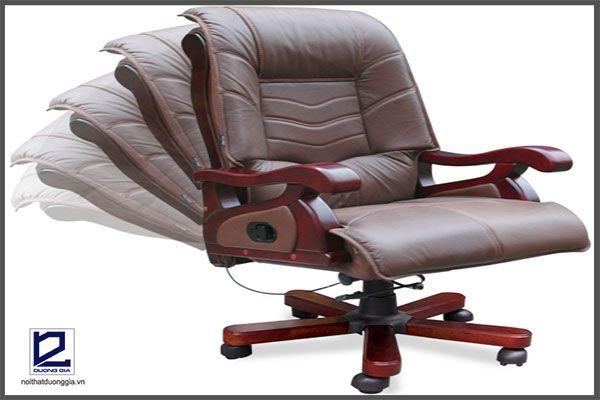 Ghế làm việc thông minh có cơ cấu điều chỉnh độ ngả và độ cao