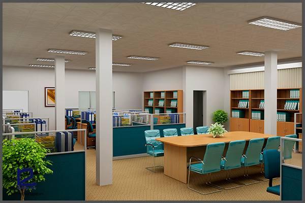 Chú ý đến vị trí cũng là nguyên tắc thiết kế nội thất văn phòng làm việc