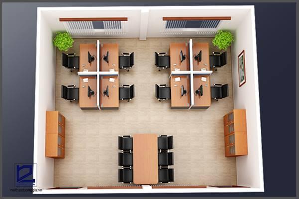 Mẫu thiết kế nội thất văn phòng đẹp số 01