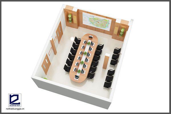 Phân chia các phòng ban rõ ràng trong thiết kế văn phòng làm việc