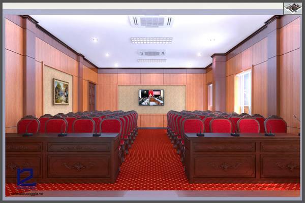 Thiết kế hội trường 150 chỗ phải đặc biệt chú ý đến nội thất