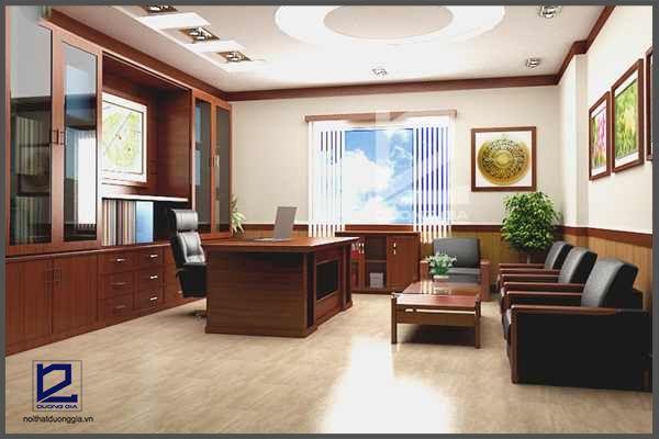 Bố trí phòng làm việc Giám đốc hợp phong thủy giúp chủ nhân may mắn về tài vận, giúp Công ty ngày càng phát triển, vững mạnh