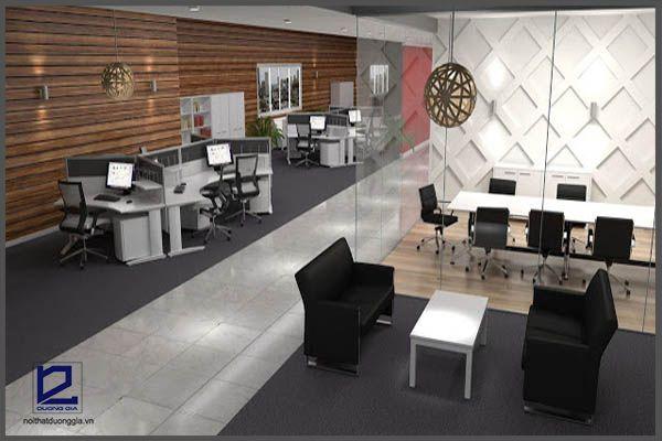 Phong cách thiết kế nội thất văn phòng làm việc hiện đại
