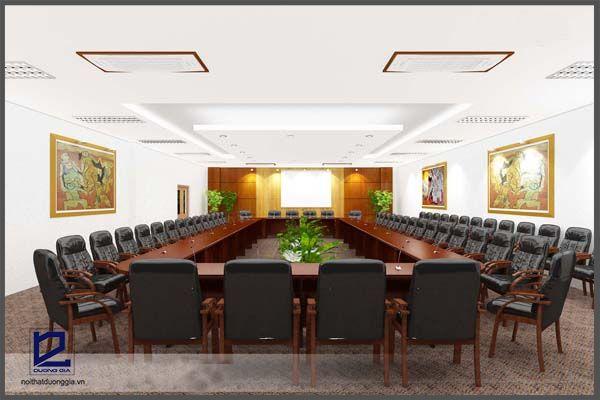 Thiết Phối cảnh thiết kế nội thất phòng họp Điện lực Gia Lâm PH-DG02 (góc chụp 2)