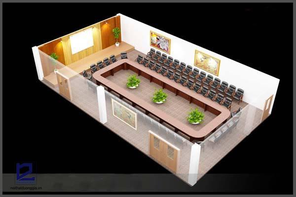 Phối cảnh thiết kế nội thất phòng họp Điện lực Gia Lâm PH-DG02