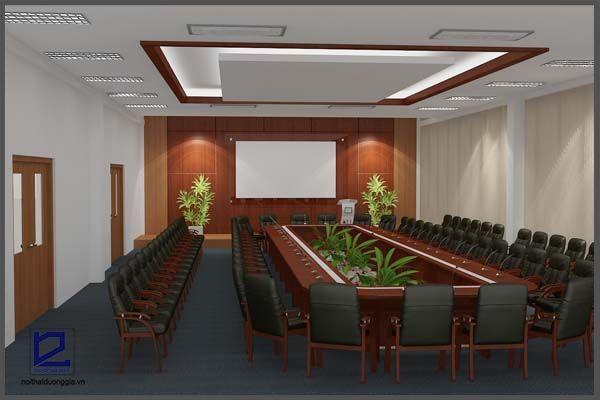 Thiết kế nội thất phòng họp Điện lực Gia Lâm PH-DG02