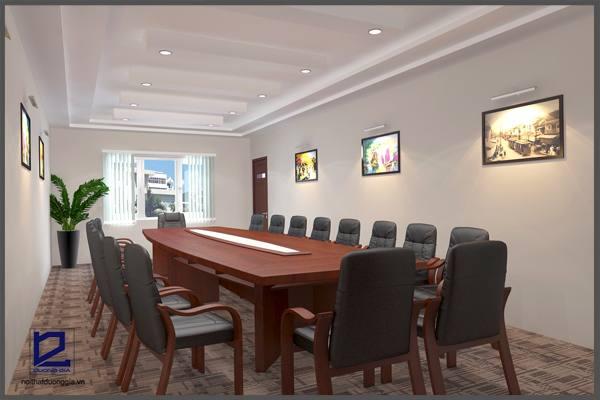 Thiết kế nội thất phòng họp công ty Tiến HàPH-DG17  (góc 2)