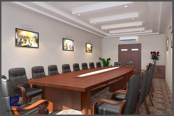 Thiết kế nội thất phòng họp công ty Tiến HàPH-DG17 (góc 1)