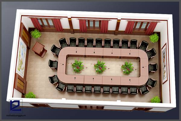 Thiết kế nội thất phòng họp công tyTGM PH-DG19  (góc chụp 2)